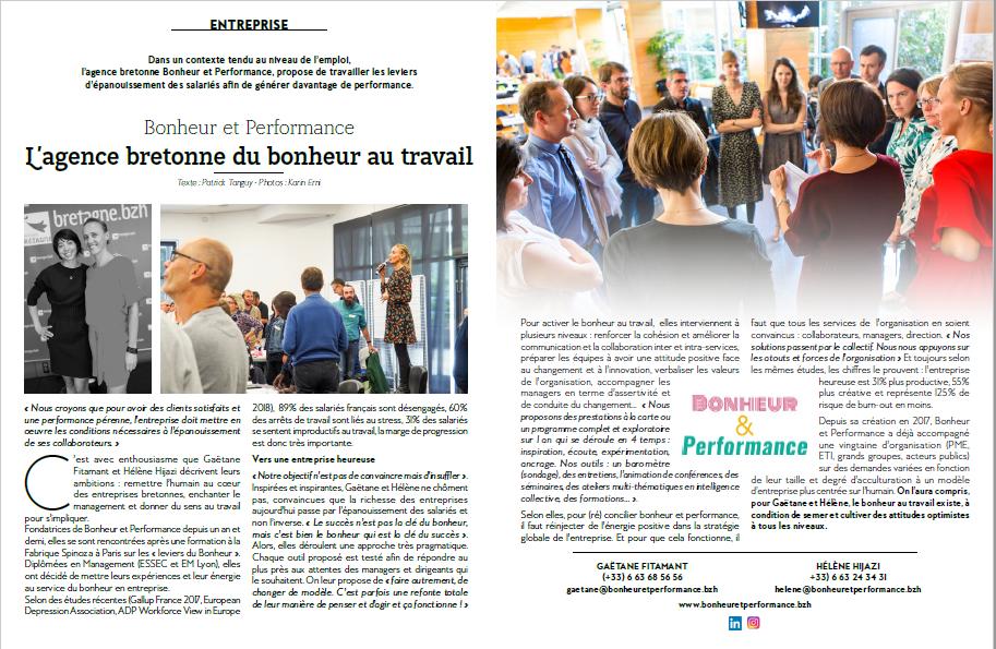 Bonheur et Performance: L'agence Bretonne du bonheur au travail!