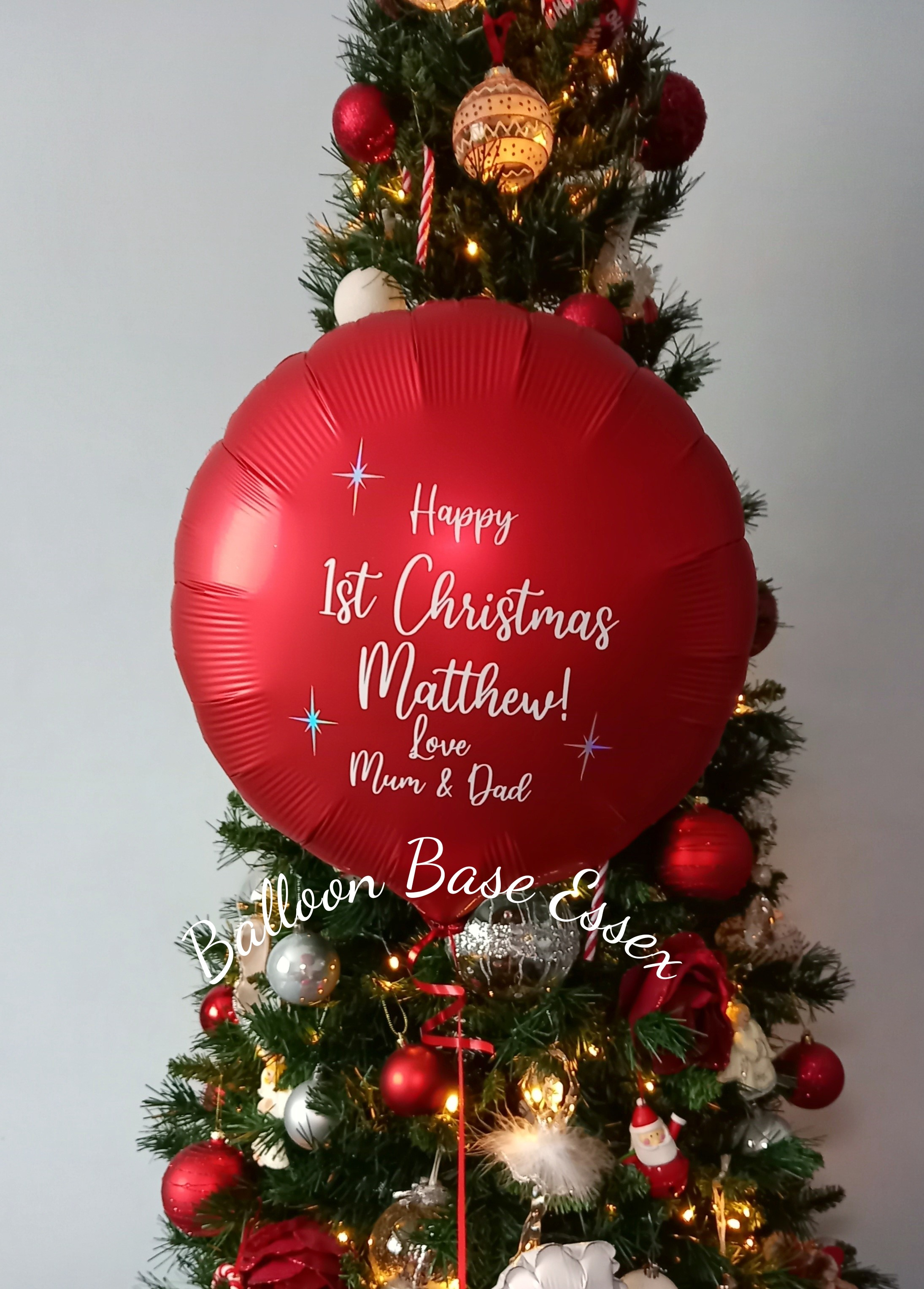 Red 1st Christmas balloon