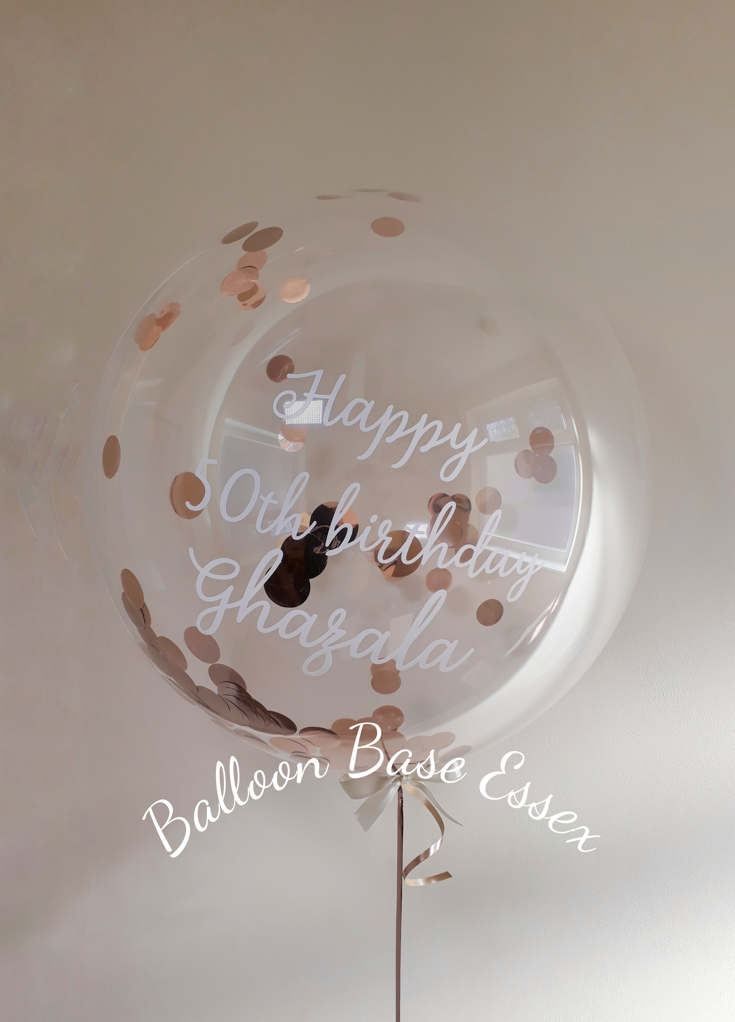 Clear bubble balloon with confetti