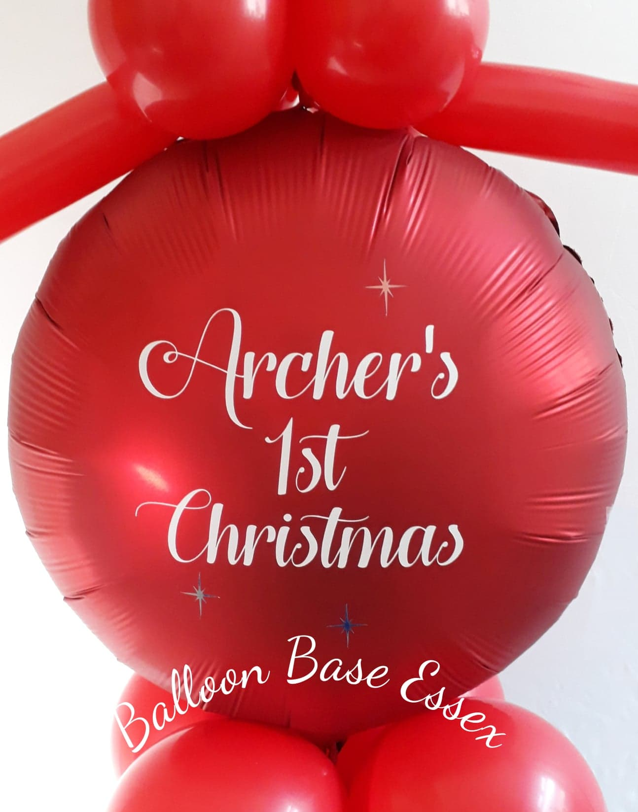 Red balloon with 1st Christmas message
