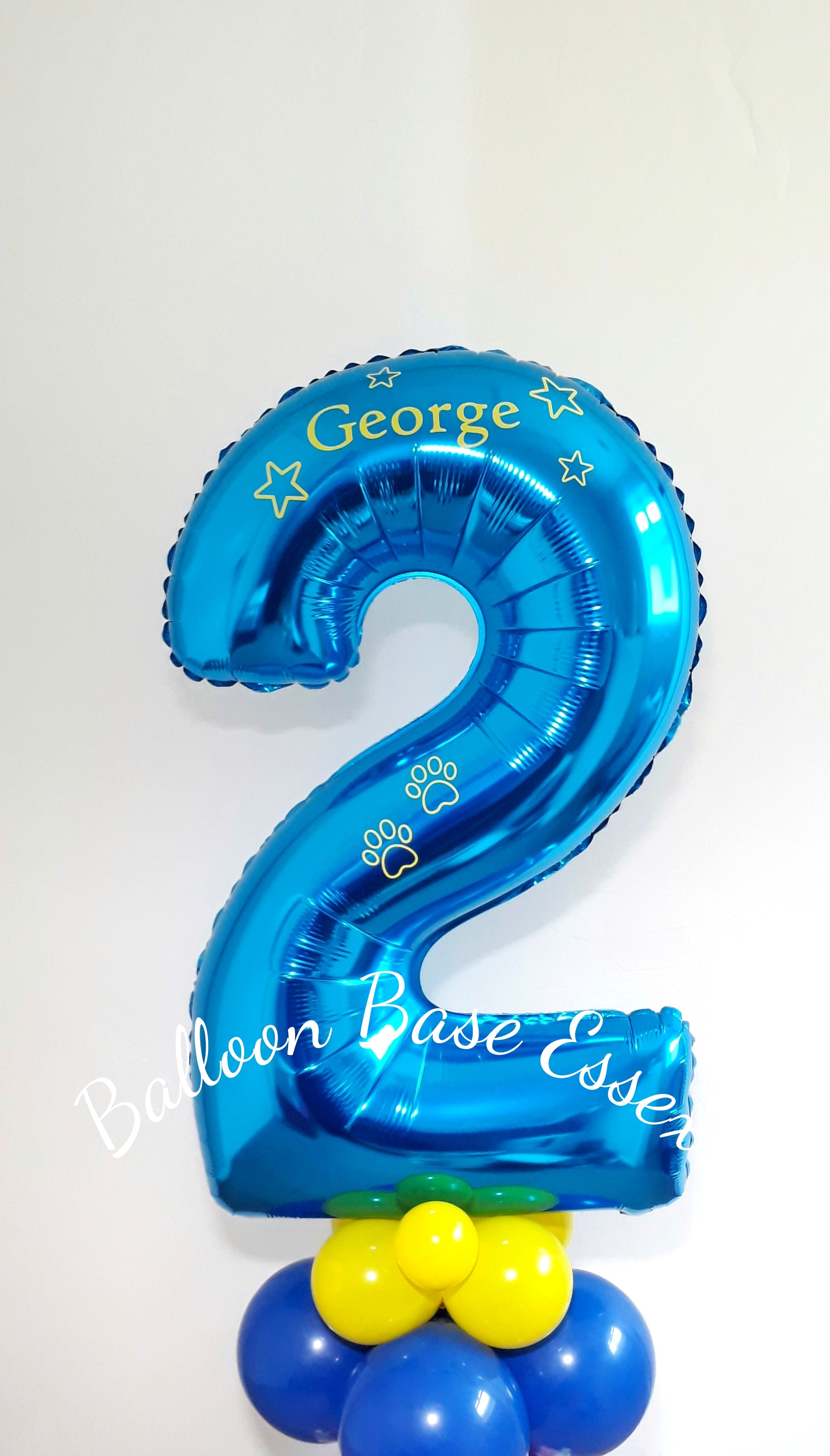 blue number two balloon