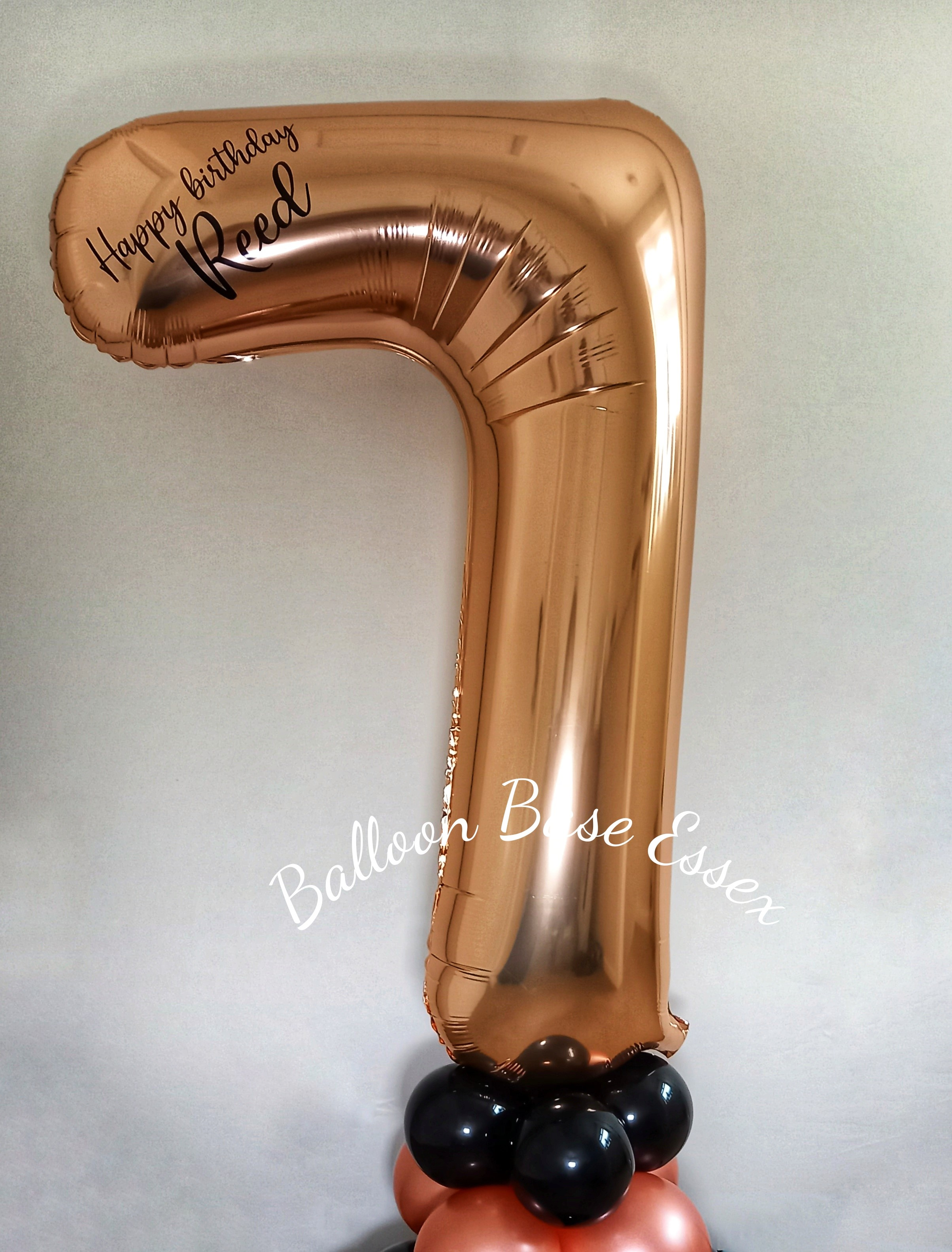 Rose gold number seven balloon