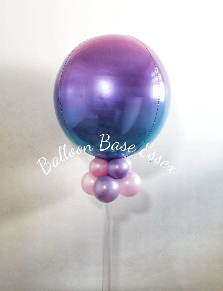 Purple blue and pink ombre balloon