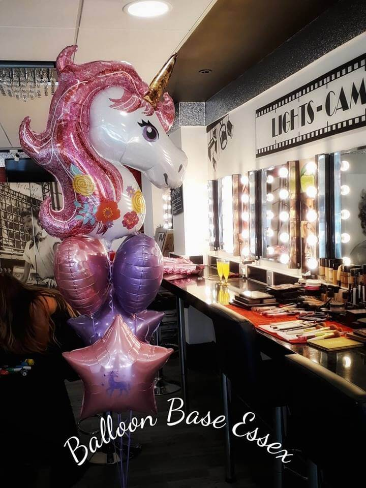 Unicorn pink and purple balloons