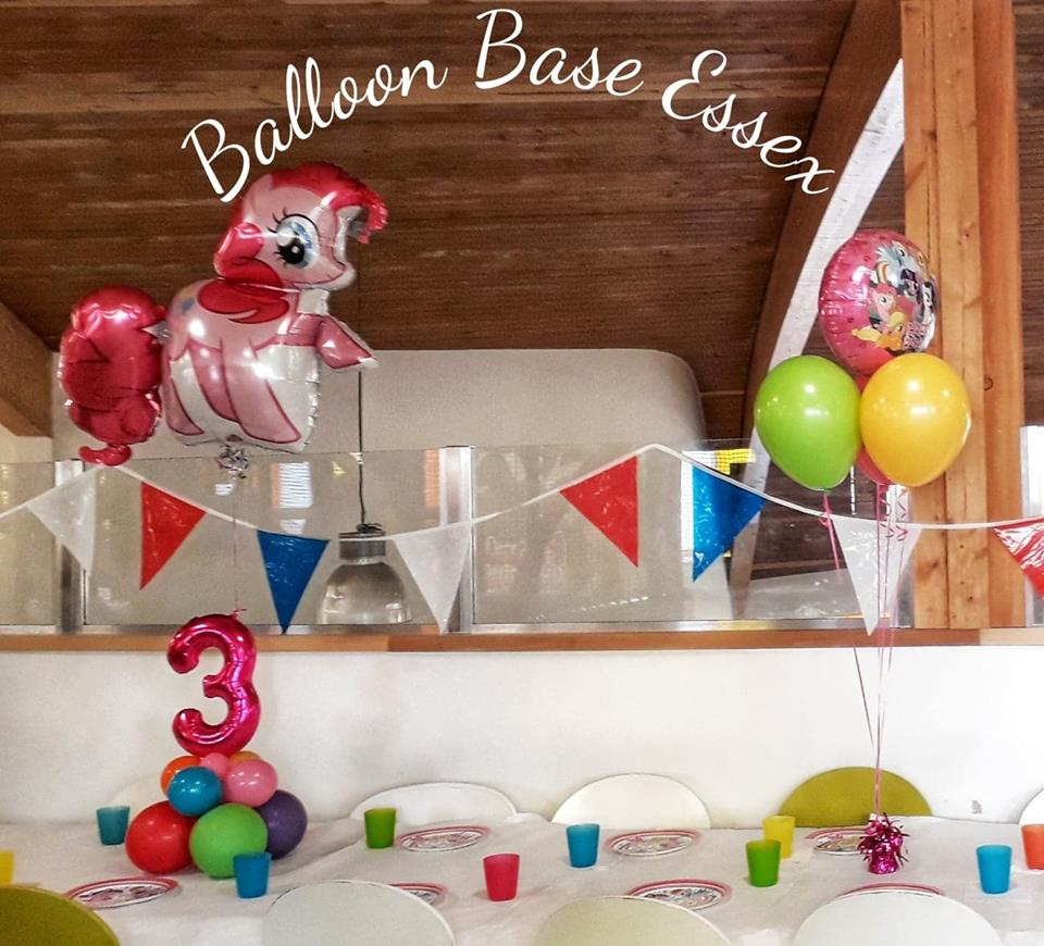 Pink pony 3rd birthday balloons