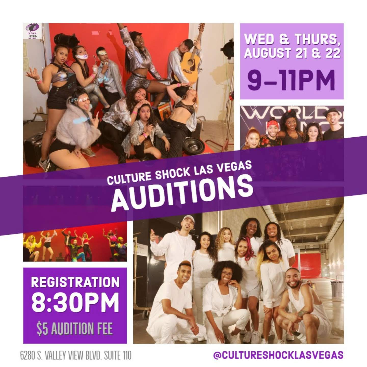 8/21-8/22 Culture Shock Las Vegas Audition
