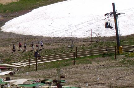 Mid-summer left-over snow in Breckenridge