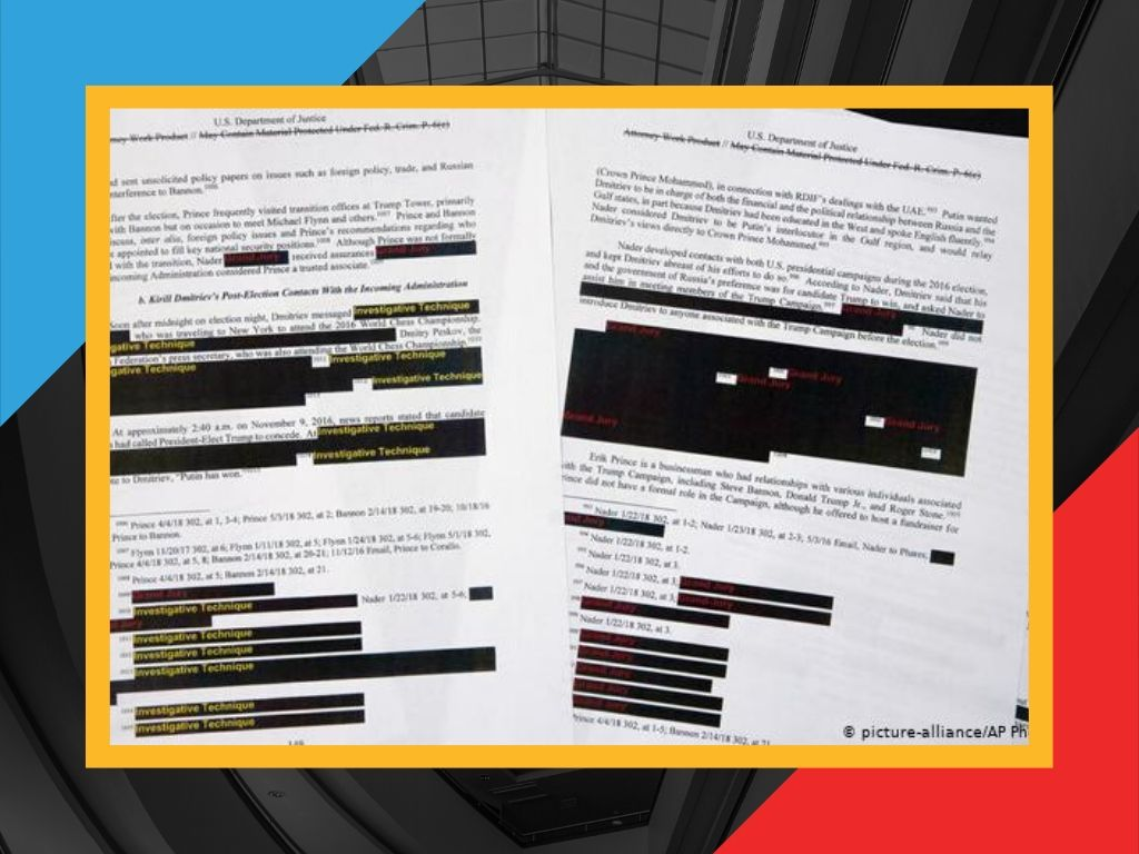 Could A.I. 'un-redact' the Mueller Report?