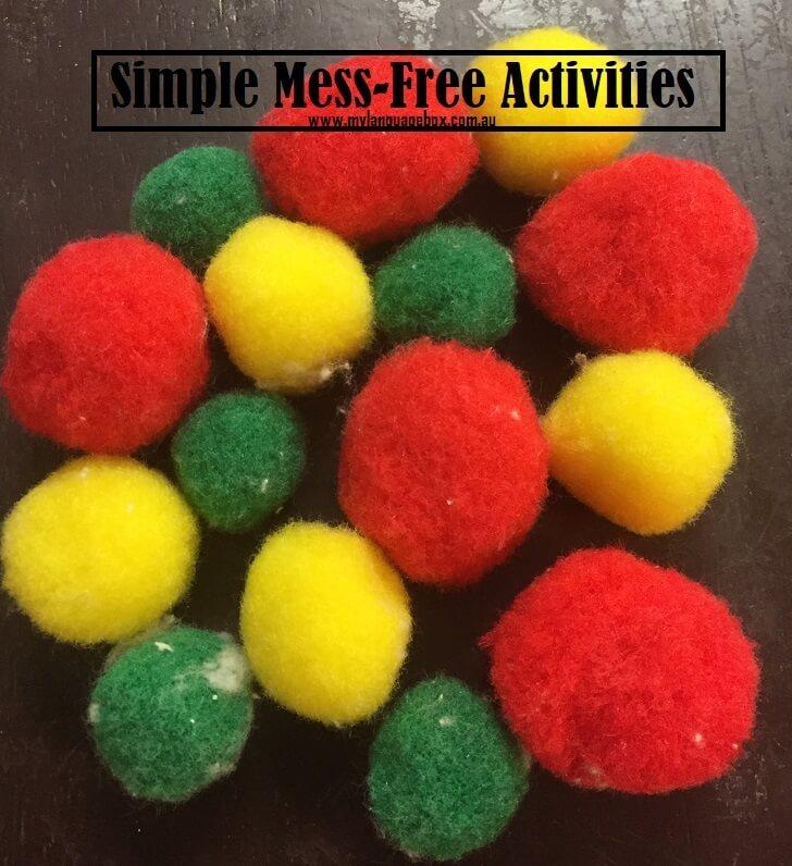 Pom pom balls activities for kids