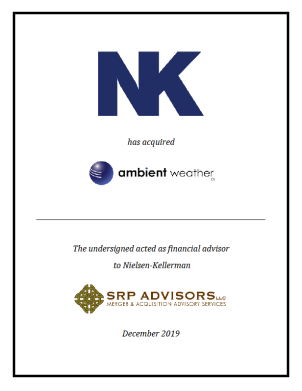 SRP Advisors, LLC Represents Nielsen-Kellerman in the Acquisition of Ambient Weather, LLC
