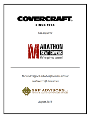 SRP Advisors, LLC Represents Covercraft Industries in the Acquisition of Marathon Seat Covers