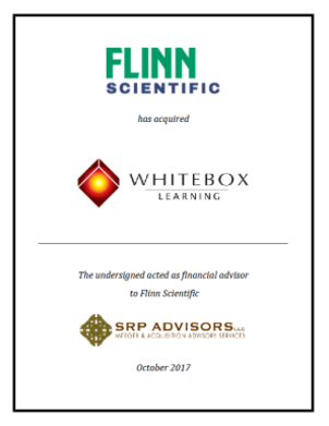 SRP Advisors, LLC Represents Flinn Scientific in the Acquisition of Whitebox Learning