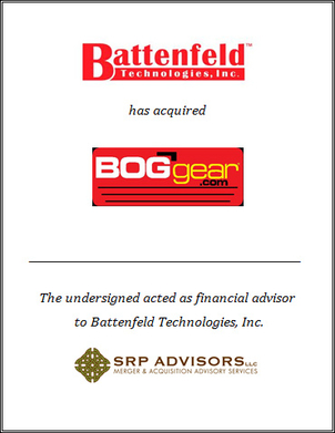 SRP Advisors, LLC Represents Battenfeld Technologies in Acquisition of BOGgear