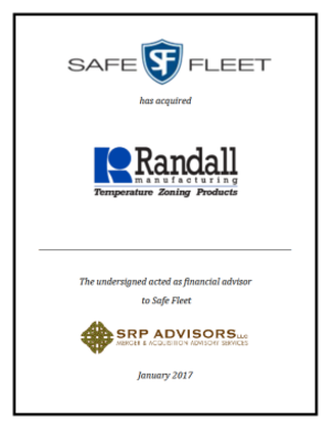 SRP Advisors, LLC Represents Safe Fleet in Acquisition of Randall Manufacturing
