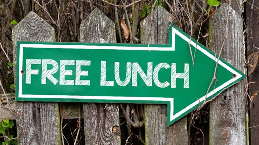 There is such a thing as a free lunch