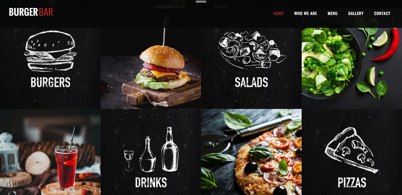 Пример сайта ресторана
