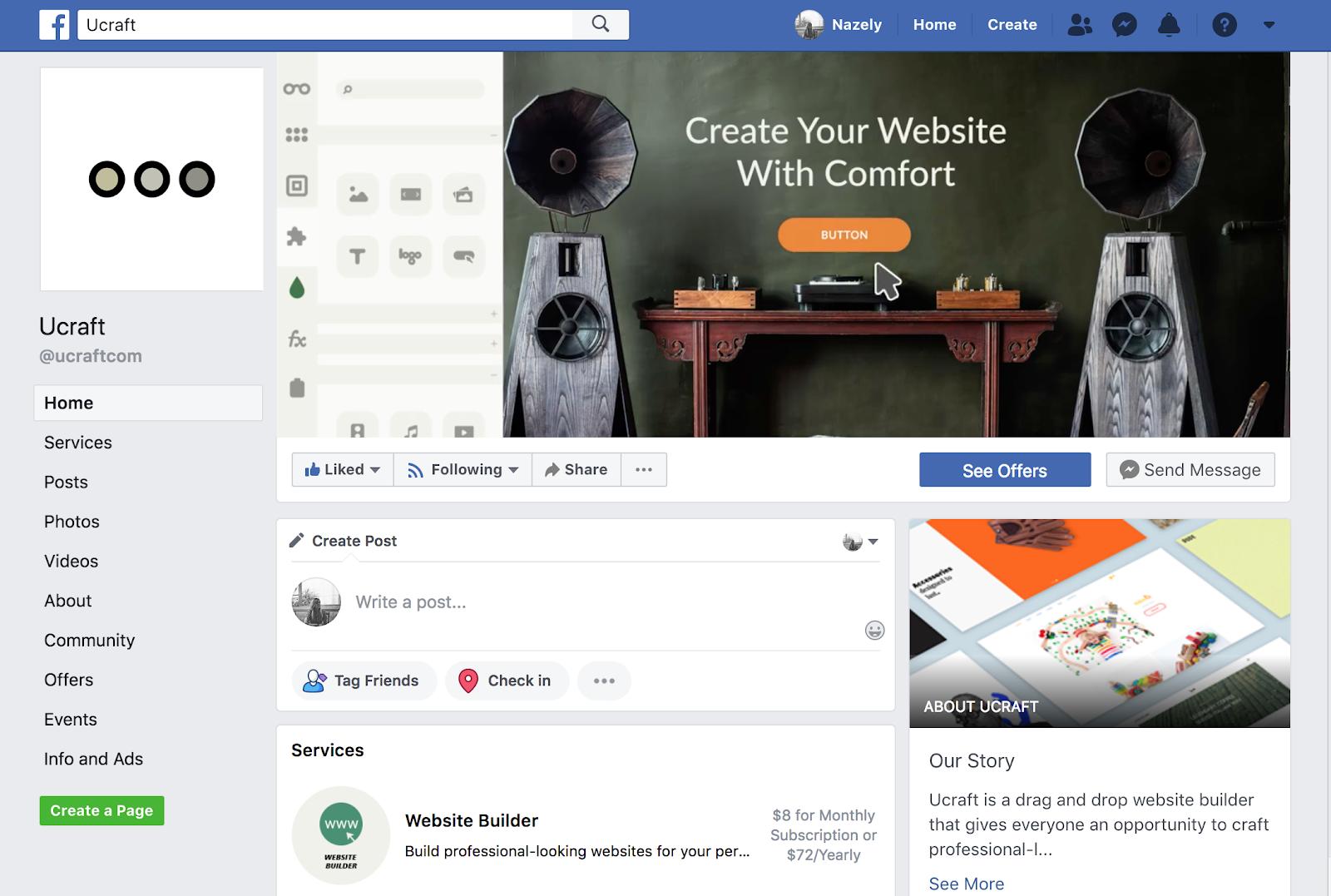 քո էջը ֆեյսբուքում