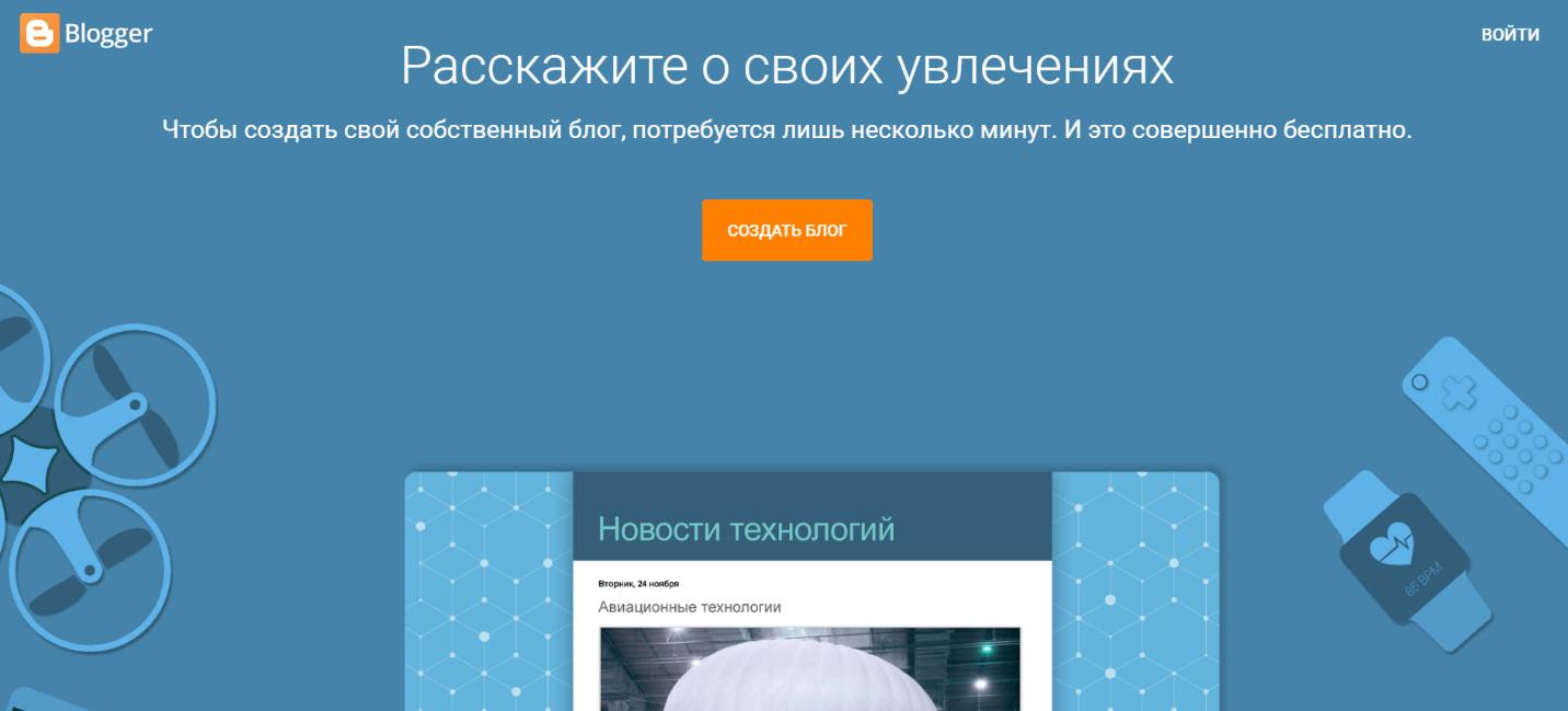 Блоггер платформа