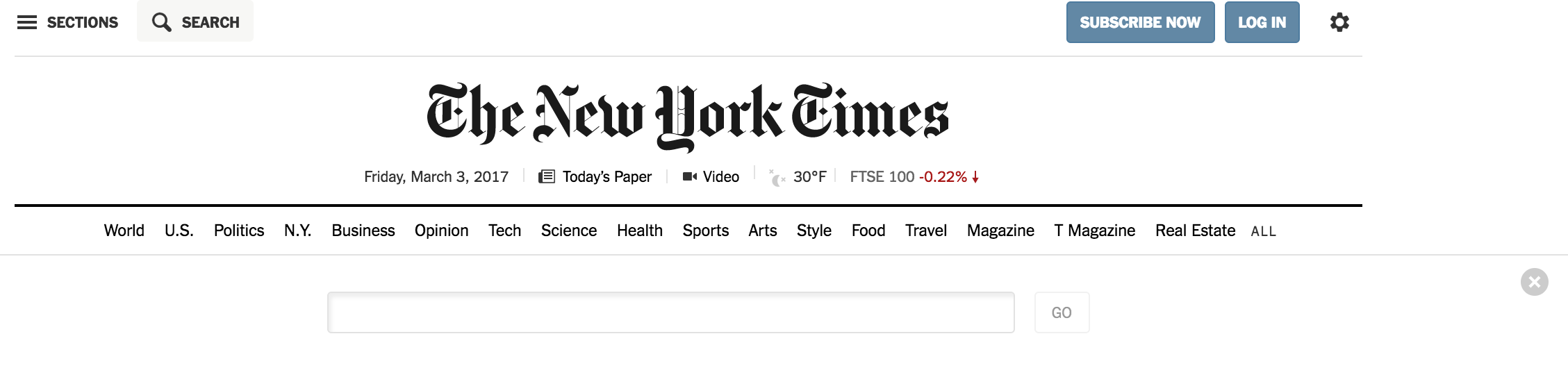 NYT Search Element
