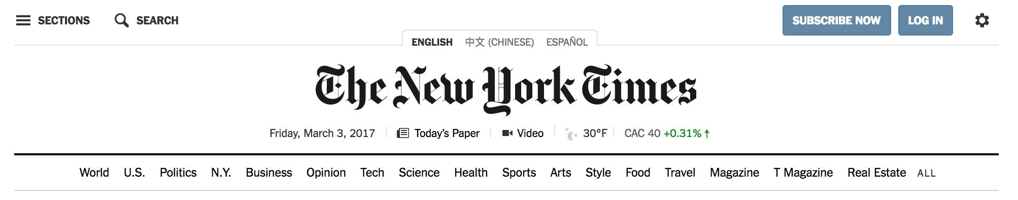 NYT Navigation